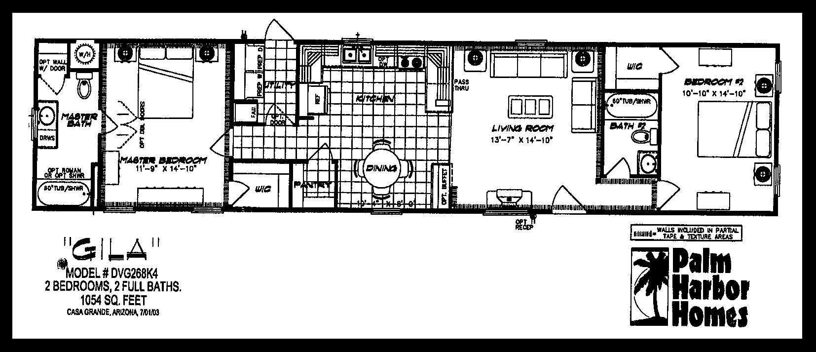14×70 Mobile Home Floor Plan awesome 2 bedroom mobile homes photos - room design ideas